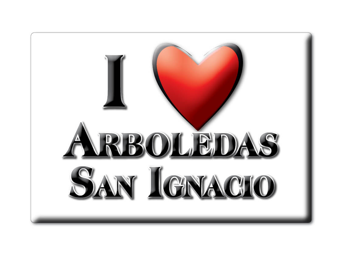 MEXICO-SOUVENIR-FRIDGE-MAGNET-IMAN-DE-NEVERA-I-LOVE-ARBOLEDAS-SAN-IGNACIO