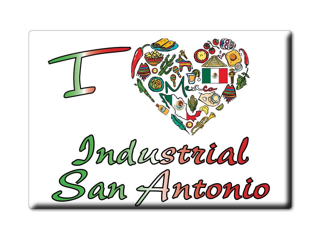MEXICO-SOUVENIR-FRIDGE-MAGNET-IMAN-DE-NEVERA-I-LOVE-INDUSTRIAL-SAN-ANTONIO