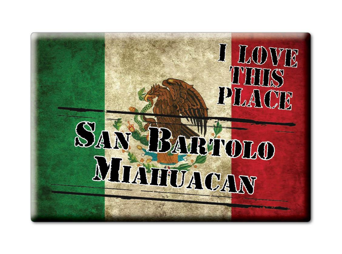 MEXICO-SOUVENIR-FRIDGE-MAGNET-IMAN-DE-NEVERA-I-LOVE-SAN-BARTOLO-MIAHUACAN
