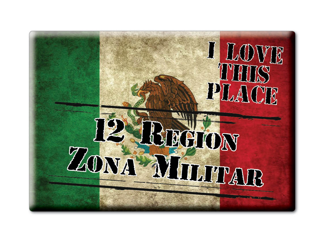 MEXICO-SOUVENIR-FRIDGE-MAGNET-IMAN-DE-NEVERA-I-LOVE-12-REGION-ZONA-MILITAR