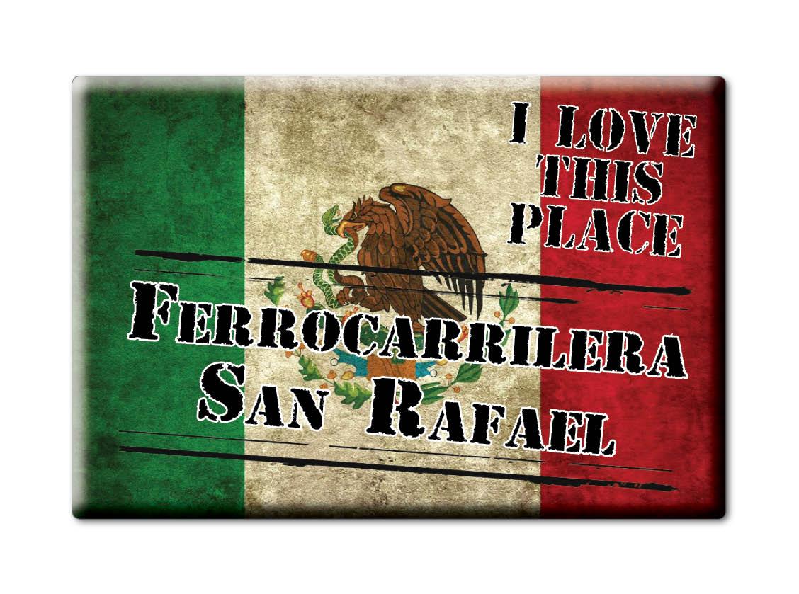 MEXICO-SOUVENIR-FRIDGE-MAGNET-IMAN-DE-NEVERA-I-LOVE-FERROCARRILERA-SAN-RAFAEL