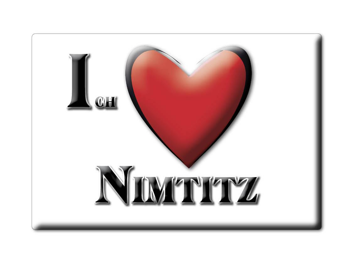 DEUTSCHLAND-SOUVENIR-SACHSEN-KUHLSCHRANKMAGNET-ICH-LIEBE-I-LOVE-NIMTITZ-SN