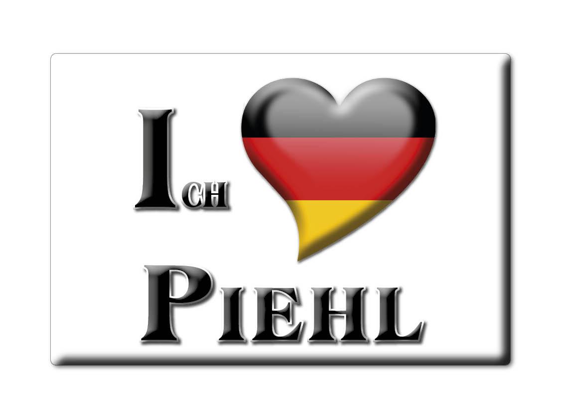 DEUTSCHLAND-SOUVENIR-BAYERN-KUHLSCHRANKMAGNET-ICH-LIEBE-I-LOVE-PIEHL-BY