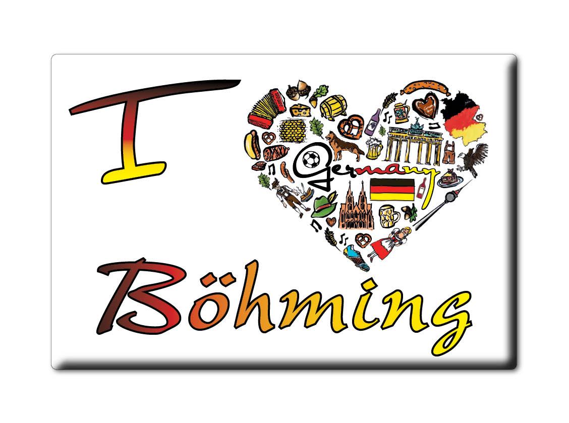 DEUTSCHLAND-SOUVENIR-BAYERN-KUHLSCHRANKMAGNET-ICH-LIEBE-I-LOVE-BOHMING-BY