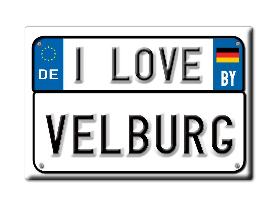DEUTSCHLAND-SOUVENIR-BAYERN-KUHLSCHRANKMAGNET-ICH-LIEBE-I-LOVE-VELBURG-BY