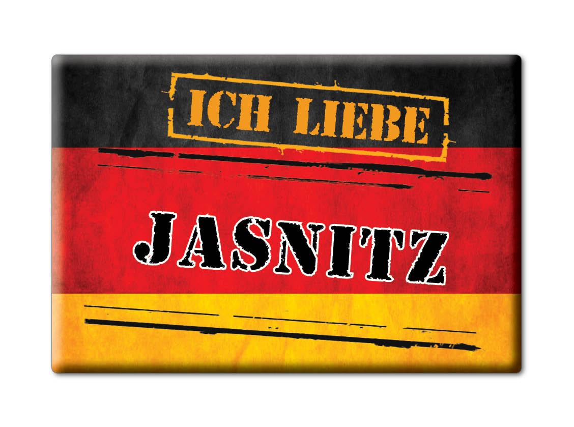 DEUTSCHLAND-SOUVENIR-MECKLENBURG-VORPOMMERN-MAGNET-ICH-LIEBE-JASNITZ-MV