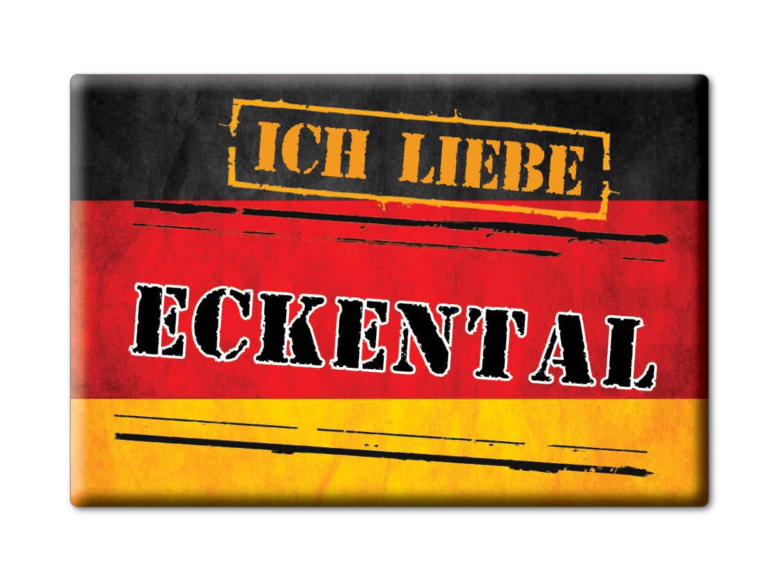 DEUTSCHLAND-SOUVENIR-BAYERN-KUHLSCHRANKMAGNET-ICH-LIEBE-I-LOVE-ECKENTAL-BY