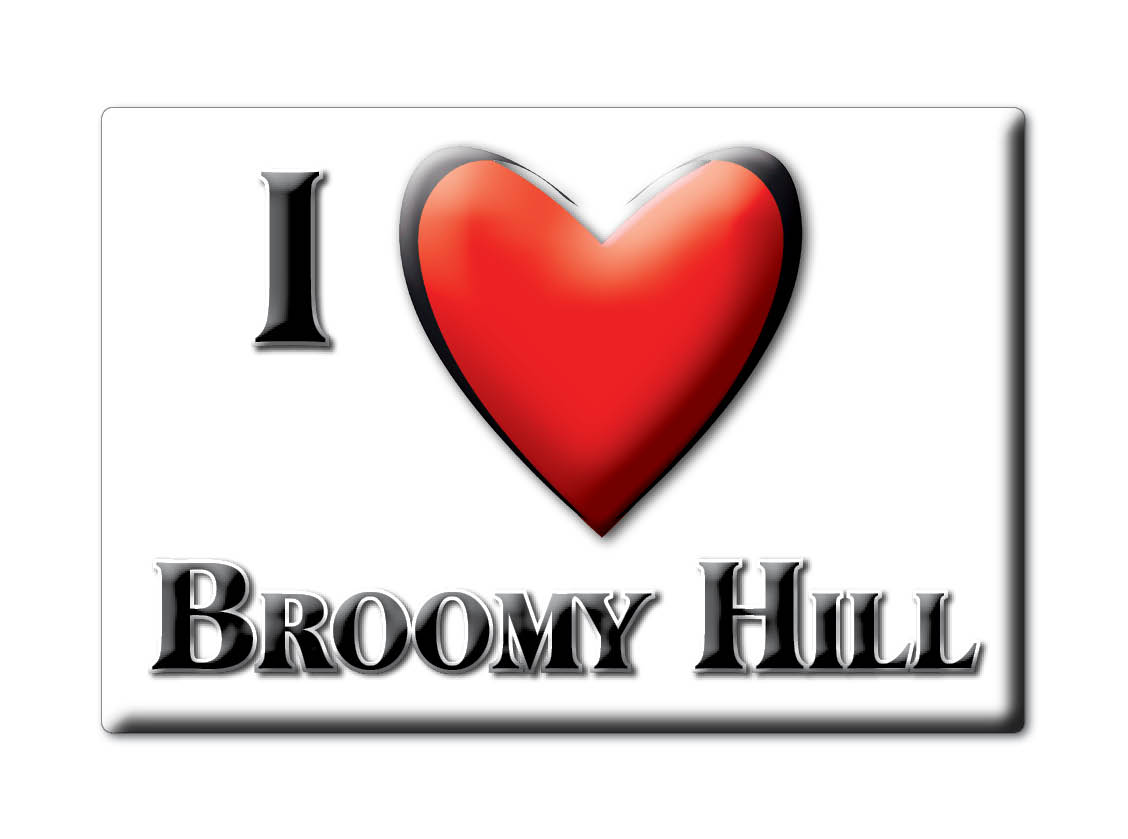 SOUVENIR-UK-ENGLAND-HEREFORD-AND-WORCESTER-MAGNET-I-LOVE-BROOMY-HILL-ENG