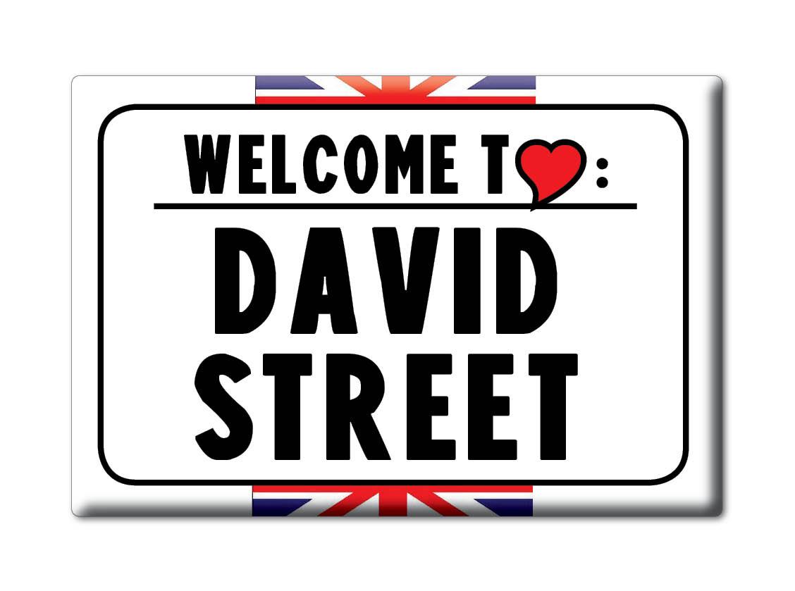SOUVENIR-UK-ENGLAND-KENT-FRIDGE-MAGNET-UK-I-LOVE-DAVID-STREET-ENG