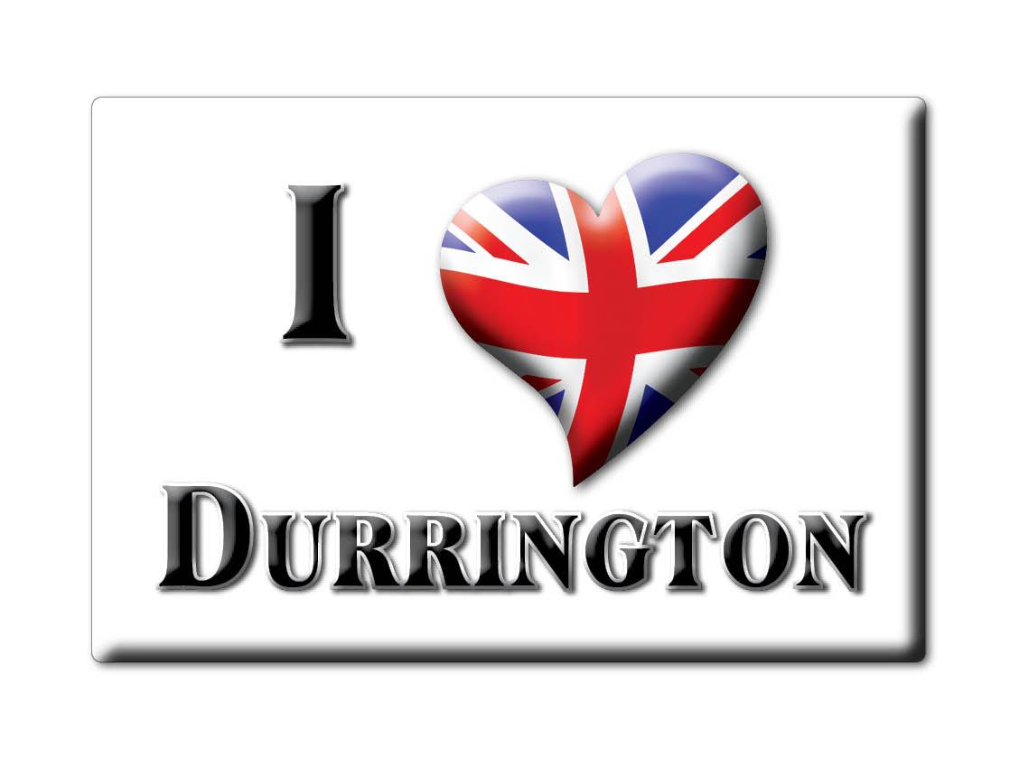 SOUVENIR-UK-ENGLAND-WEST-SUSSEX-FRIDGE-MAGNET-UK-I-LOVE-DURRINGTON-ENG