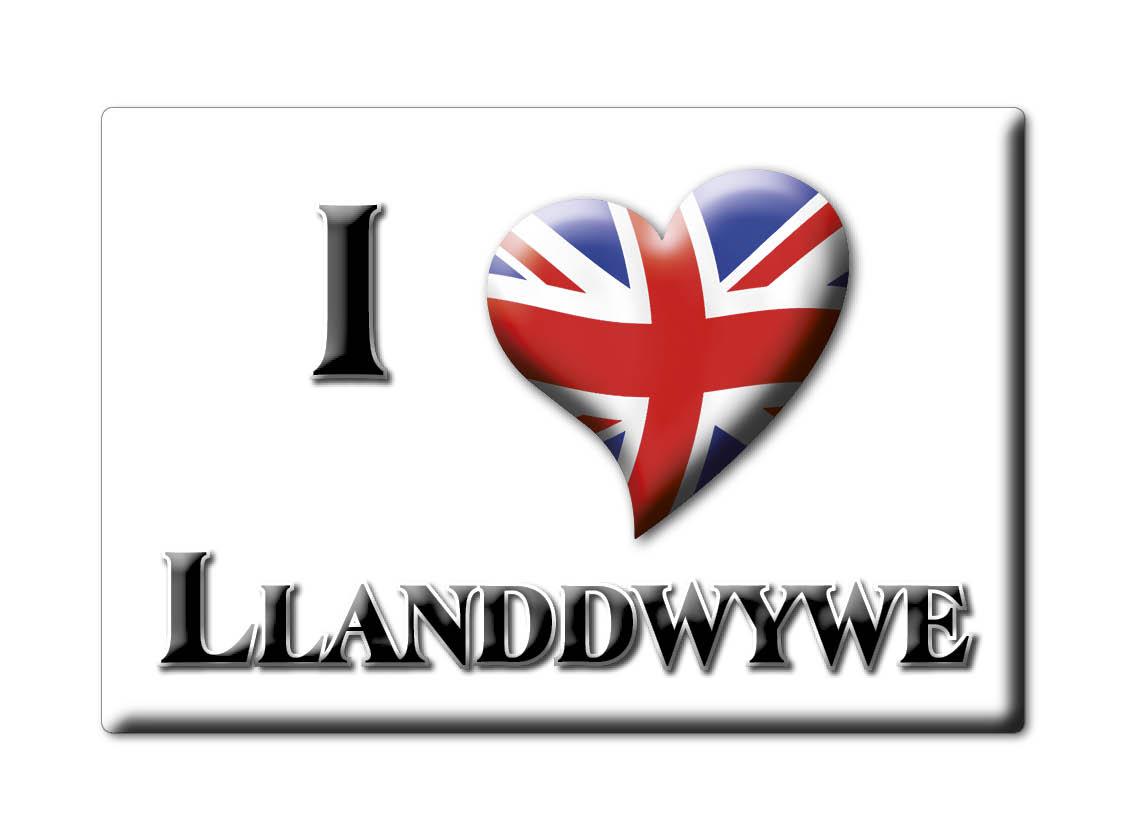 SOUVENIR-UK-WALES-GWYNEDD-FRIDGE-MAGNET-UK-I-LOVE-LLANDDWYWE-CYM
