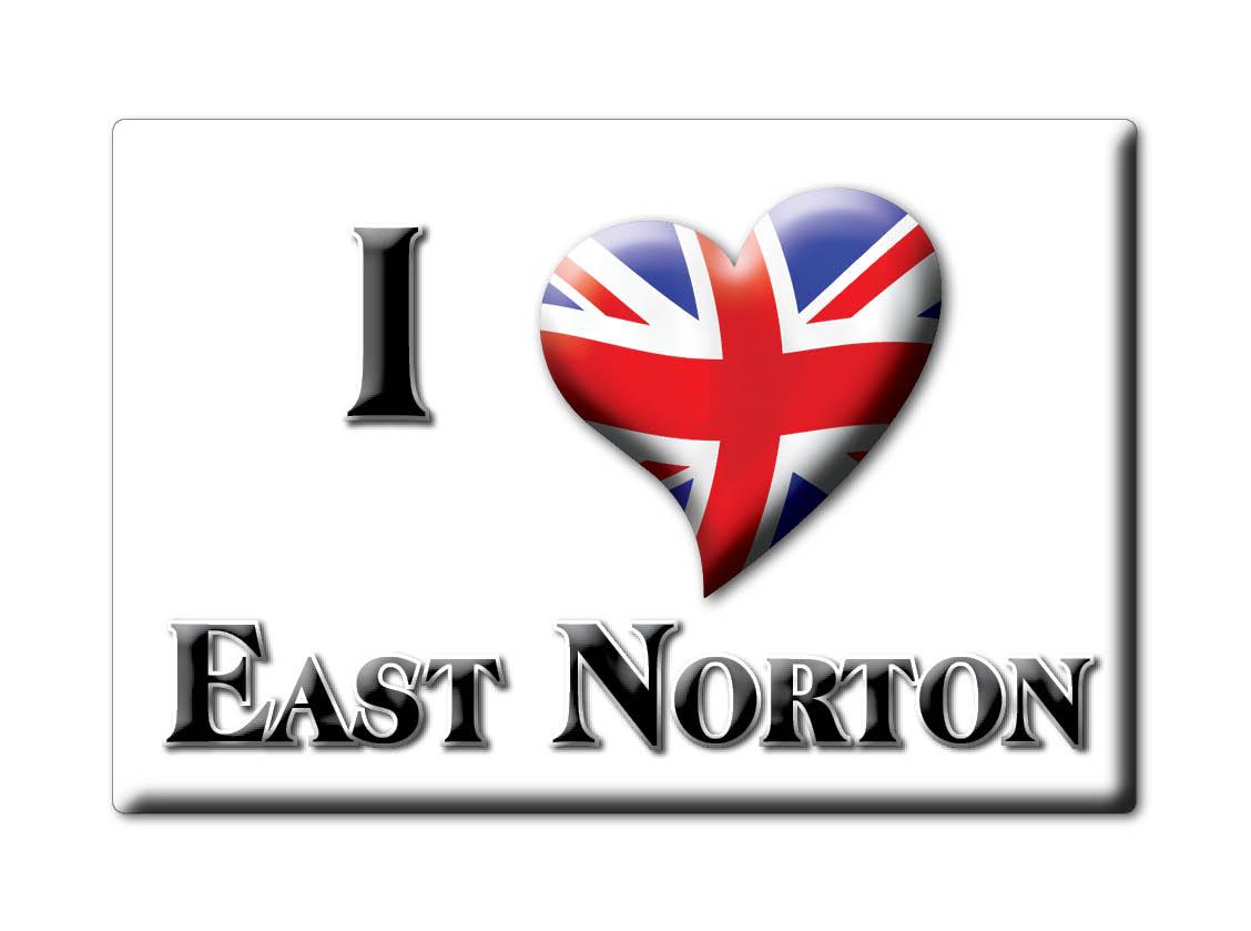 SOUVENIR-UK-ENGLAND-LEICESTERSHIRE-FRIDGE-MAGNET-UK-I-LOVE-EAST-NORTON-ENG