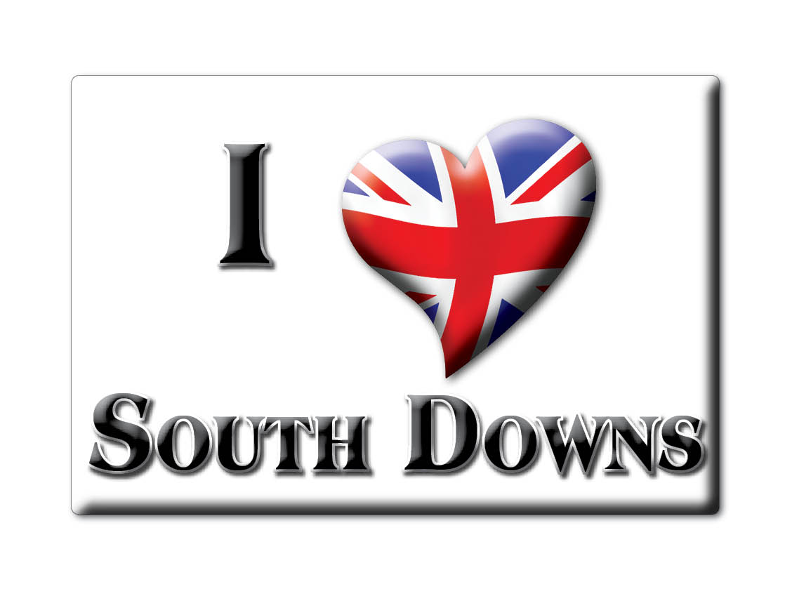 SOUVENIR-UK-ENGLAND-WEST-SUSSEX-FRIDGE-MAGNET-UK-I-LOVE-SOUTH-DOWNS-ENG