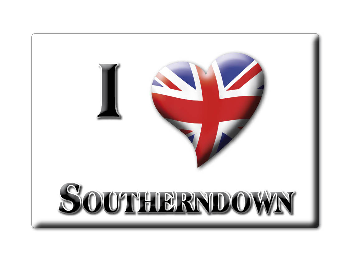 SOUVENIR-UK-WALES-GLAMORGAN-FRIDGE-MAGNET-UK-I-LOVE-SOUTHERNDOWN-CYM