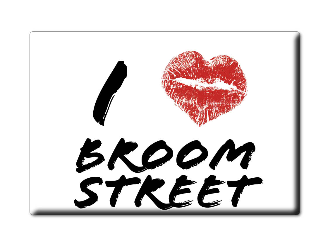 SOUVENIR-UK-ENGLAND-KENT-FRIDGE-MAGNET-UK-I-LOVE-BROOM-STREET-ENG