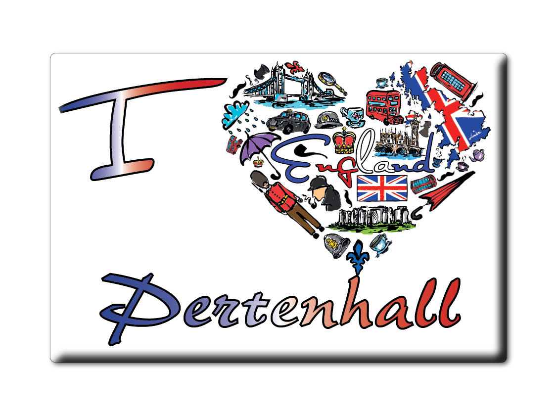 SOUVENIR-UK-ENGLAND-BEDFORDSHIRE-FRIDGE-MAGNET-UK-I-LOVE-PERTENHALL-ENG