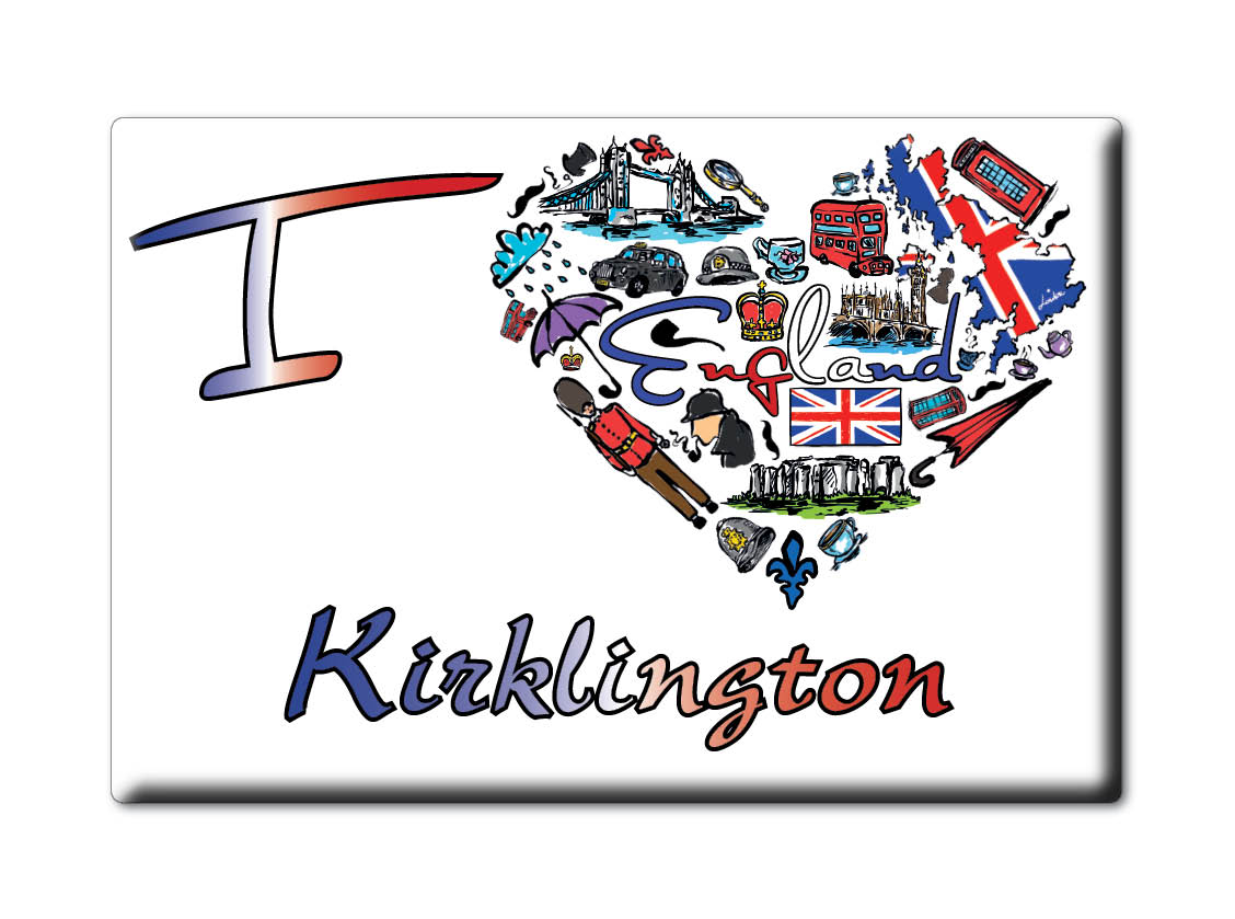 SOUVENIR-UK-ENGLAND-NOTTINGHAMSHIRE-FRIDGE-MAGNET-UK-I-LOVE-KIRKLINGTON-ENG