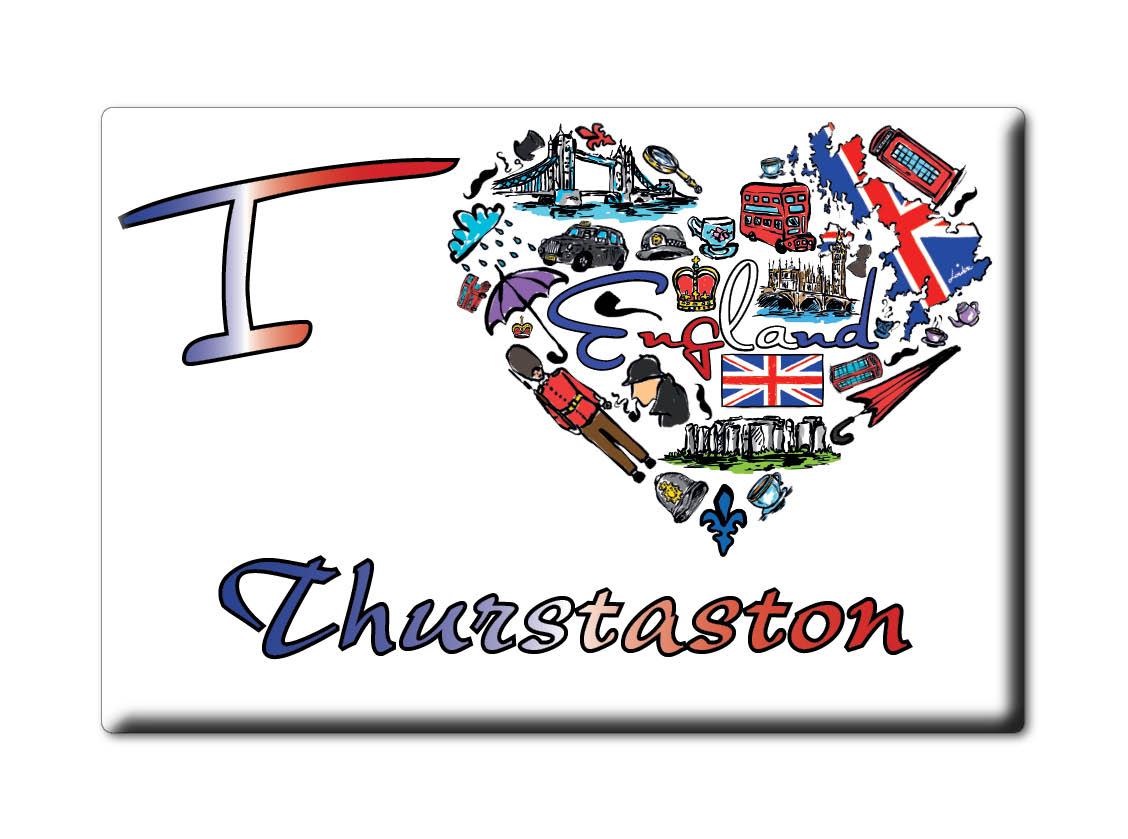 SOUVENIR-UK-ENGLAND-MERSEYSIDE-FRIDGE-MAGNET-UK-I-LOVE-THURSTASTON-ENG
