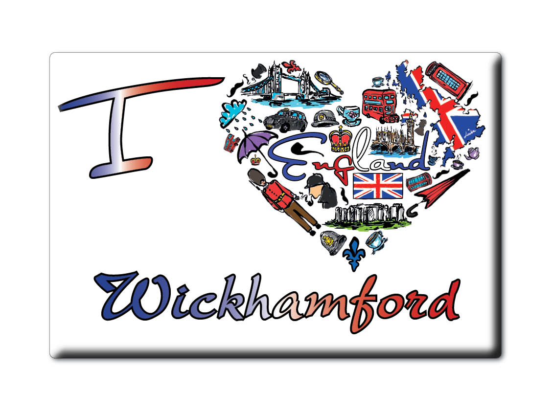 SOUVENIR-UK-ENGLAND-HEREFORD-AND-WORCESTER-MAGNET-I-LOVE-WICKHAMFORD-ENG