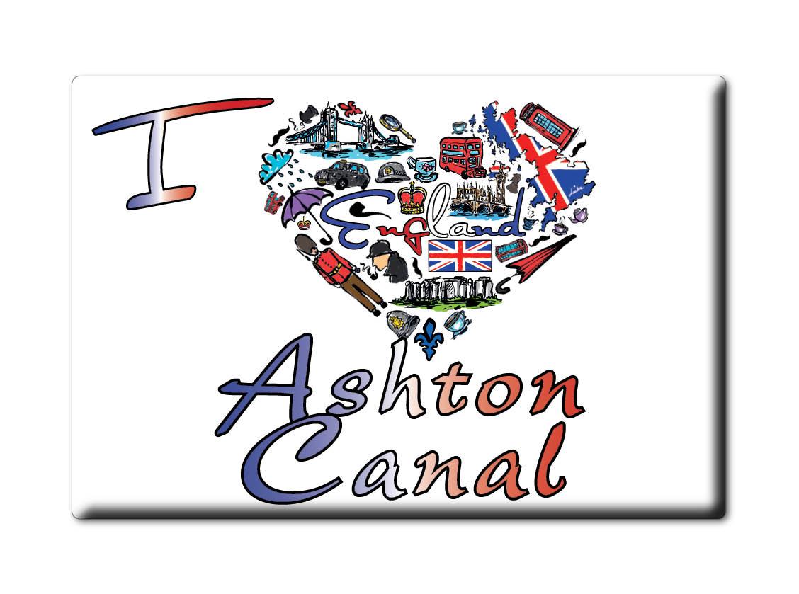 SOUVENIR-UK-ENGLAND-GREATER-MANCHESTER-FRIDGE-MAGNET-I-LOVE-ASHTON-CANAL-ENG