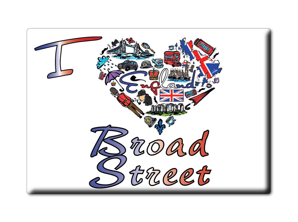 SOUVENIR-UK-ENGLAND-EAST-SUSSEX-FRIDGE-MAGNET-UK-I-LOVE-BROAD-STREET-ENG