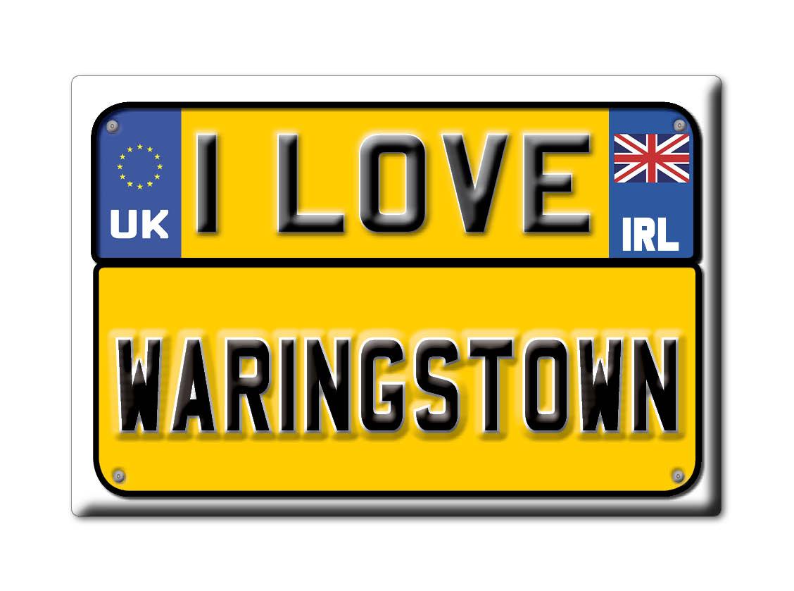 SOUVENIR-UK-NORTHERN-IRELAND-COUNTY-DOWN-MAGNET-I-LOVE-WARINGSTOWN-IRL