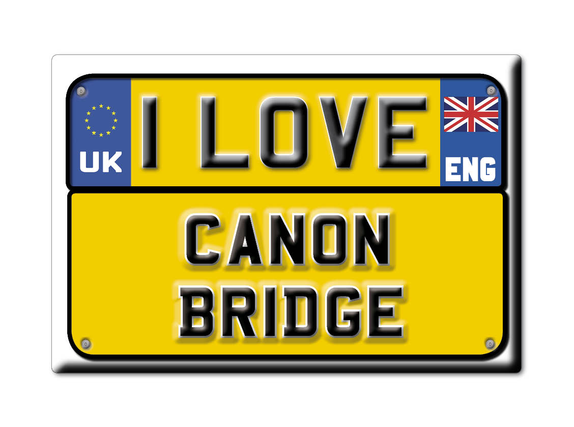 SOUVENIR-UK-ENGLAND-HEREFORD-AND-WORCESTER-MAGNET-I-LOVE-CANON-BRIDGE-ENG