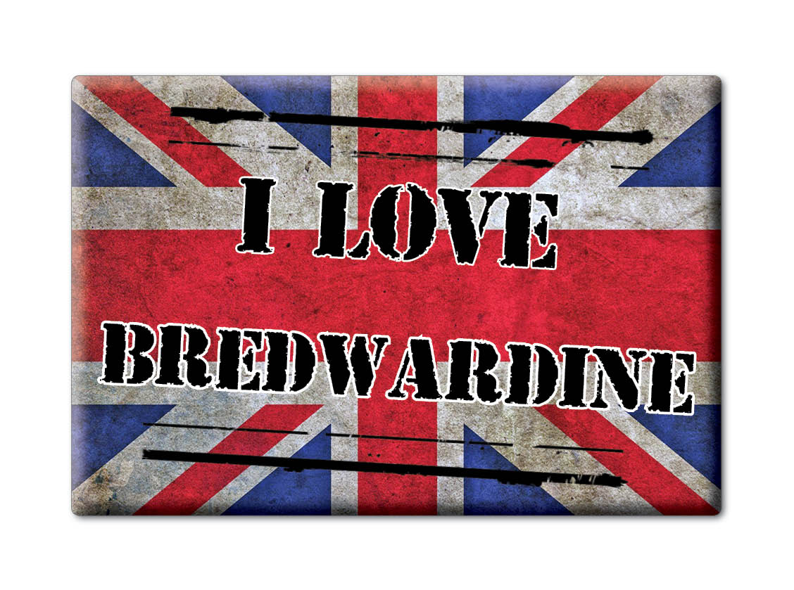 SOUVENIR-UK-ENGLAND-HEREFORD-AND-WORCESTER-MAGNET-I-LOVE-BREDWARDINE-ENG