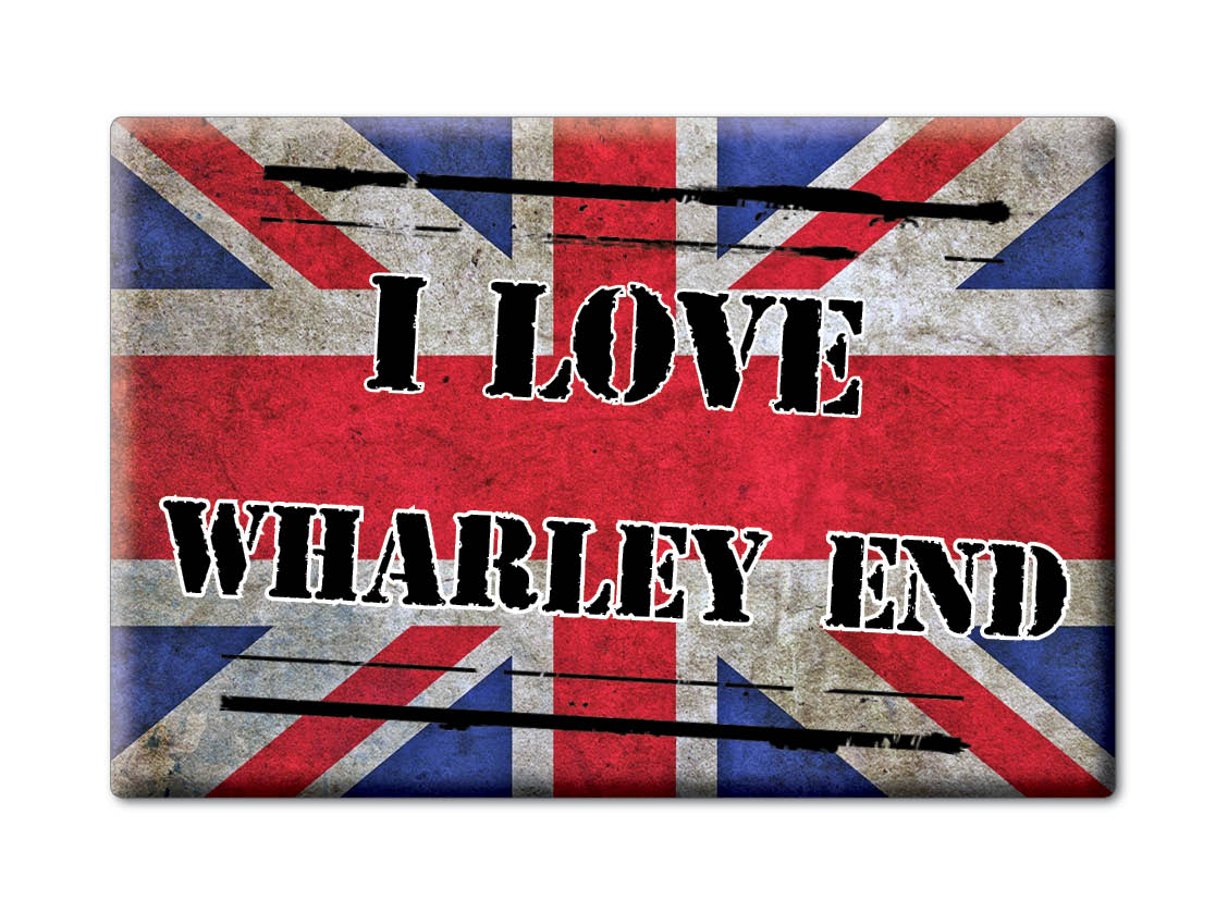 SOUVENIR-UK-ENGLAND-BUCKINGHAMSHIRE-FRIDGE-MAGNET-UK-I-LOVE-WHARLEY-END-ENG