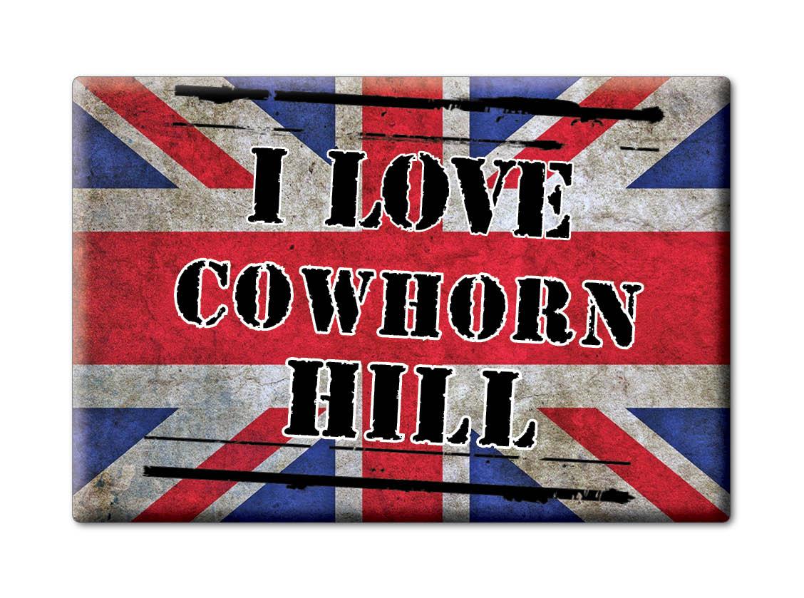 SOUVENIR-UK-ENGLAND-GLOUCESTERSHIRE-FRIDGE-MAGNET-UK-I-LOVE-COWHORN-HILL-ENG